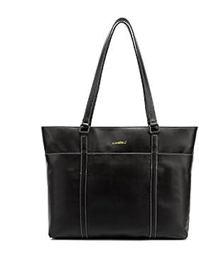 CoolBELL Damen Handtasche Oberer-Griff Tasche 15,6 Zoll Laptop Tasche Leder Aktentasche Klassisch Umhängetasche...
