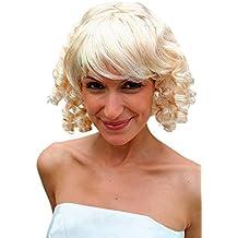 VK Event Fashion - Peluca para fiesta, estilo era victoriana, color rubio claro