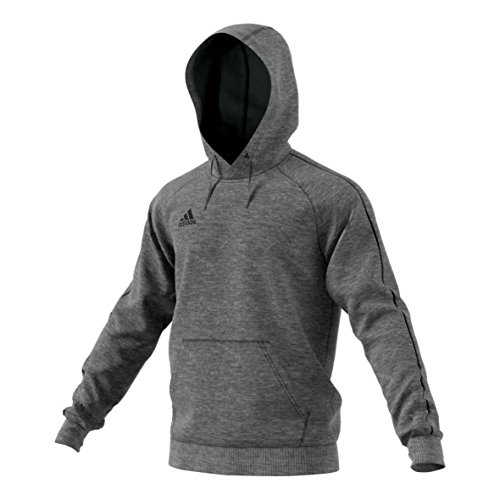adidas Herren Core 18 Kapuzenpullover, Dark Grey Heather/Black, M