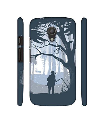 Casotec Hunter Designer 3D Printed Hard Back Case Cover for Motorola Moto G 2nd Generation