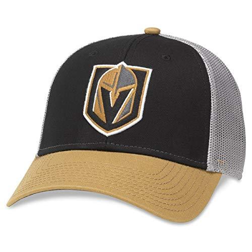 American Needle Vegas Golden Knights Roughage Mesh Trucker Verstellbarer Snapback Hat - Krone Logo Tee