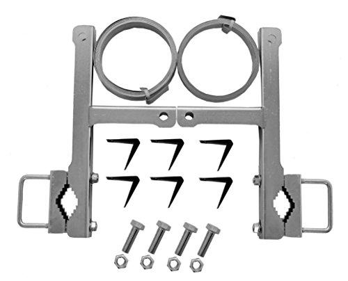 A.S.Sat 38910 verzinkter Stahl Schornstein- Masthalterset ohne Bohren für Montage (Sat Antenne Montage)