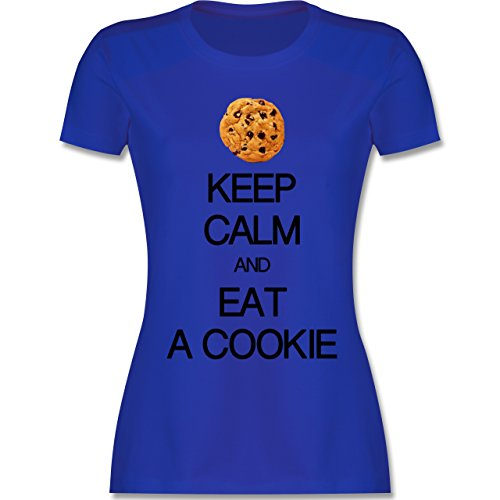 Keep calm - Keep calm and eat a cookie - tailliertes Premium T-Shirt mit Rundhalsausschnitt für Damen Royalblau