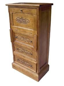 french furniture solid wood writing bureau writing desk in oak finish shabby chic furniture. Black Bedroom Furniture Sets. Home Design Ideas