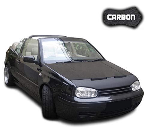 Black Bull Haubenbra Golf 4 CLEAN Cabrio Carbon Automaske Bra Steinschlagschutz Tuning Maske Steinschlagschutzmaske