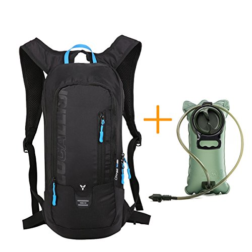 Bike Backpack -10L Waterproof Cycling Backpack, Adjustable Breathable Hiking Backpack, Lightweight With 2L Water Bag Mountaineering Run Backpack, Mountain Bike Backpack by Newpurslane