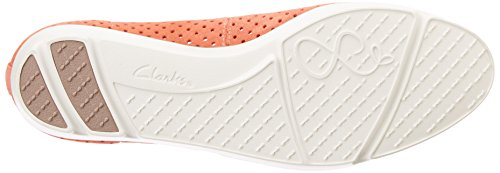 Clarks Evie Buzz, Ballerines Femme Orange (Coral Suede)