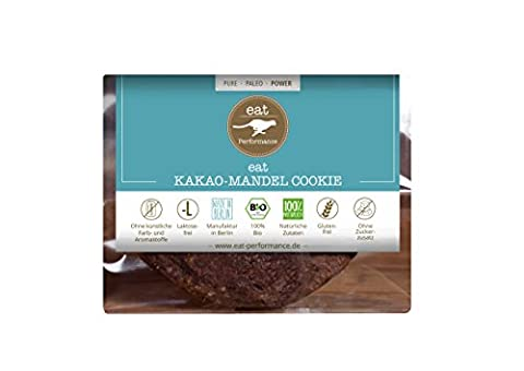 Cookie (Chocolate, 1x 50g) by eat Performance (organic biscuit, paleo, no added sugar, gluten free, lactose free, superfood)