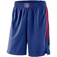 EWDS Pantalones Cortos de Baloncesto de 5 Puntos, Pantalones Cortos Informales Transpirables de Malla Clippers, adecuados para Baloncesto, fútbol, Pantalones Cortos de Baloncesto de Gimnasio