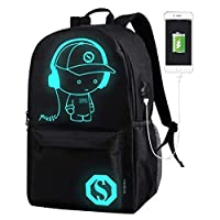 DOLIROX® Cool Boys Outdoor Backpack Anime Luminous Backpack Daypack Shoulder School Bag Laptop Bag