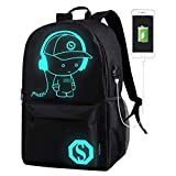 DOLIROX® Cool Boys Girls Outdoor Backpack Anime Luminous Backpack Daypack Shoulder School Bag