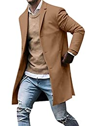 Giacca Invernale da Uomo Trench Slim Fit Manica Lunga Soprabito Parka  Business Cappotto Top Coat S dfdc0a7c0e7