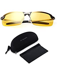 f1270398bc Gafas Nocturna - Protección de ojos UV400 | Gafas de seguridad polarizadas  | Conducción Gafas Nocturna