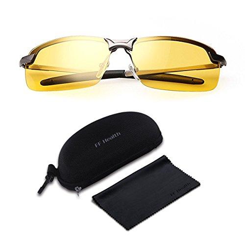 Gafas Nocturna – Protección de ojos UV400   Gafas de seguridad polarizadas    Conducción Gafas Nocturna 05e11cf0c6