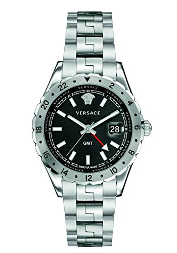 Versace Unisex Erwachsene Analog Quarz Uhr mit Edelstahl Armband V11020015