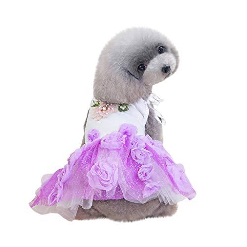 Hawkimin Hund mops Bekleidung Pet Dog Bottoming Musik Symbol Rose Print Kleid Kleidung Katze Lace Breathable Dress