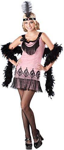 Flirty Flapper Costume Dress Teen Medium - Teen Flapper Kostüm