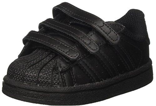 adidas Originals Unisex Baby Superstar CF Hausschuhe, Schwarz (Negbas 000), 20 EU