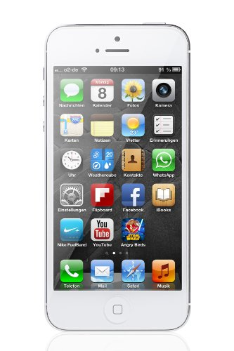 Apple Computer International Apple iPhone 5 Smartphone 16GB (10,2 cm (4 Zoll) LED-backlit IPS-Touchscreen, 8 Megapixel Kamera, iOS 6) weiß