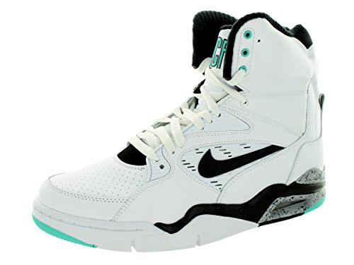 Nike  NIKE AIR COMMAND FORCE, Chaussons montants homme white black wolf grey hyper jade 102