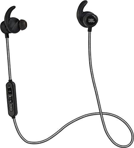 JBL Reflect Mini BT Auricolari Sportivi Resistenti al Sudore, Wireless, Bluetooth, con Cavo Riflettente, Controllo Remoto e Microfono in Linea a 3 Pulsanti, Compatibile con Smartphone e Tablet Android/iOS, Nero