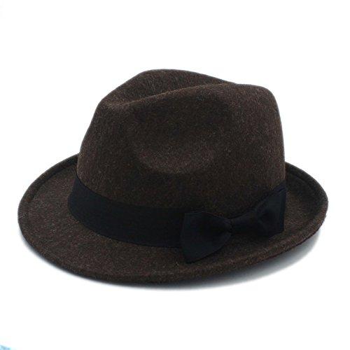 YAJIE Fedora Hat For Gentleman, Mujeres Hombres Chapeau Femme (Color : Café, Color : 57-58cm)