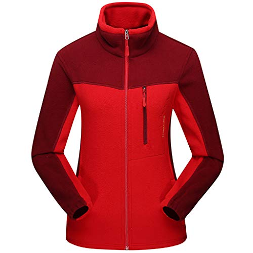 JMETRIC Frauen Fleece Fleece Reißverschluss Stehkragen Top Outdoor Sports verdicken Plüschjacke