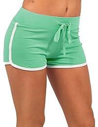 Ularma Mujeres verano entrenamiento Yoga pantalones Mini Shorts Gym entrenamiento pretina flaco Yoga elásticos cortos deportes