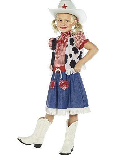 Sweetie Kind Kostüm Cowgirl - Smiffy's Girls Fantasy Cowgirl Sweetie Fancy Dress Costume 10-12yrs