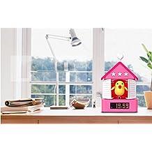 pengweiNueva casa de moda mini despertador cuco creativa con un pistola despertador nuevo exótico pájaro despertador , 1