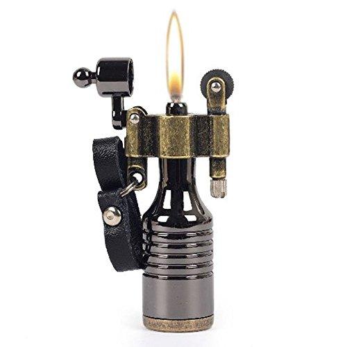 Einzigartiges Benzin-Feuerzeug im Vintage Look - Hochwertiges Feuerzeug alt zum nachfüllen in einzigartigem Design - Originelles Mini-Taschenfeuerzeug für unterwegs (Hochwertige Zippo-feuerzeug)