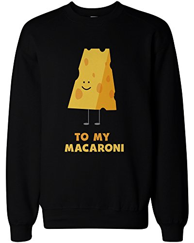 365Printing you' re The Cheese to my Macaroni BFF Matching felpe per Best Friend Black