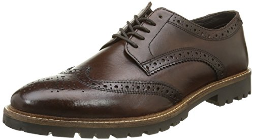 Base LondonTrench - Scarpe stringate Uomo , Marrone (Marron (Washed Brown)), 44