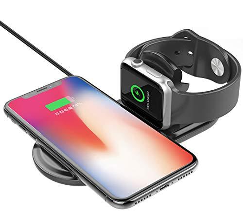 L&Z Wireless Ladegerät zusammenklappbare Ladeschale Wireless Charging Stand für Apple Watch Series...