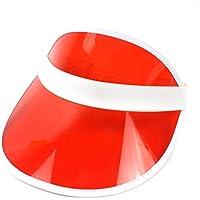 NACOLA Visier Hüte, Leer Top Transparent Candy Farbe PVC Sonnenschutz Fahrrad Hat