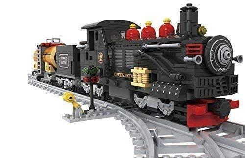 Schwarz Zug-satz Kohle Auto & Auto Öl Klassisch Dampfmaschine 10 Stück Schienen #25812
