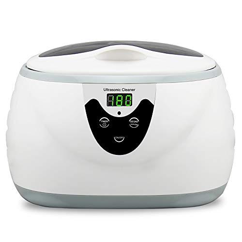 Bblank ultrasonic cleaner machine household jewellery orologi protesi occhiali monete e altro detergente per la cura della persona con timer prolungato 600ml