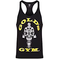 Gold´s Gym GGVST-003 Muscle Joe - Camiseta musculación para Hombre, Color Negro, Talla S