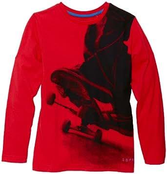 Esprit - t-shirt  manches longues - garon - Rouge - FR : 12 ans (Taille fabricant : M)