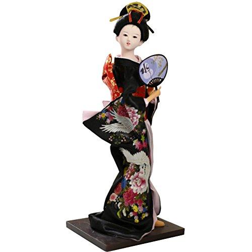 """Chinashow 12\"""" Traditionelle Japanische Schöne Kimono Geisha Puppe Orientalische Puppe Maiko Puppe Beste Geschenke A2"""