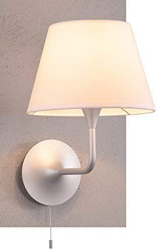 Lampenlux Wandlampe Liranus Wandleuchte Ø 26 cm mit Zugschalter silber weiß E27 60W -
