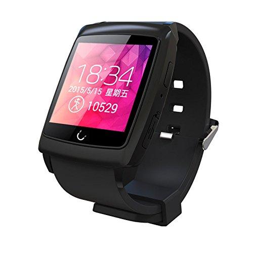 Peibo SW401impermeabile orologio intelligente WiFi Bluetooth GPS Navigator per Android Phone, monitoraggio del sonno, bussola cronometro, contapassi, Black