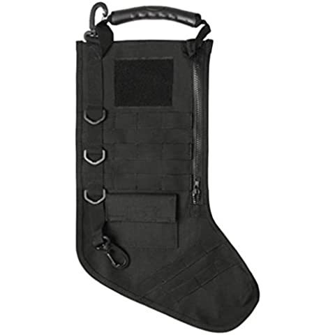 Christmas Tactical Stocking w/MOLLE, Black