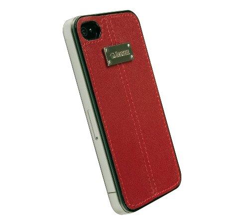 Krusell Luna UnderCover Schutzhülle für Apple iPhone 4 schwarz rot