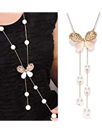 Shining Diva Fashion Stylish Party Wear Long Chain Pendant Necklace for Women and Girls