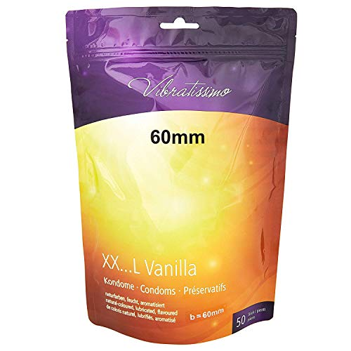 """AMOR Vibratissimo\""""Meine Größe 60mm\"""", 50er Pack Kondome mit Vanillearoma, gefühlsecht und maßgeschneidert"""