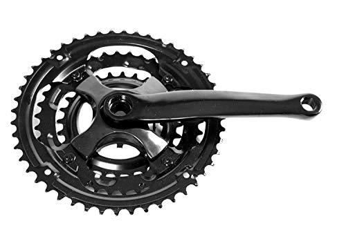 Fahrrad Kettenrad Kurbel Garnitur 3 fach schwarz 28/38/48 Zähne 170 mm ohne Kettenschutz