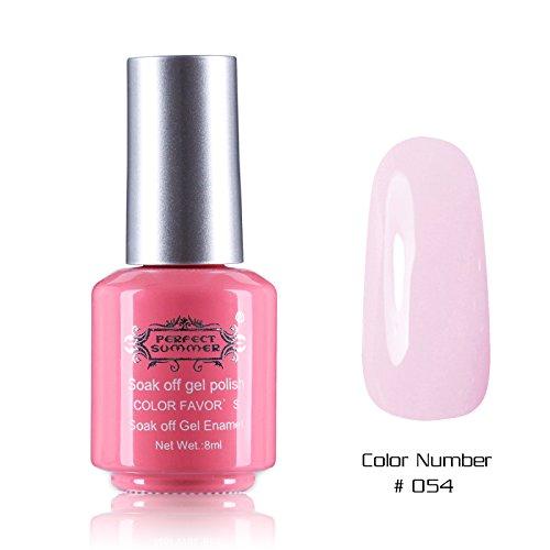 Perfect Summer 1PCS 8ml Vernis à Ongles Semi Permanent UV LED Soak Off Gel Polish Nail Art Manucure 8ml Couleur #54