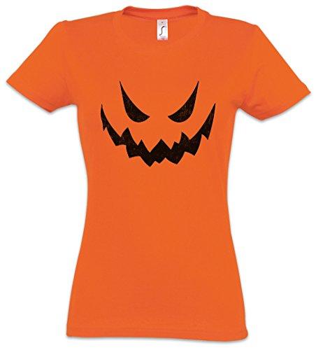 Glowing Halloween Pumpkin II Damen T-Shirt
