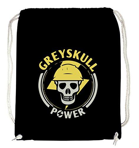 Certified Freak Grey Skull Gymsack Black